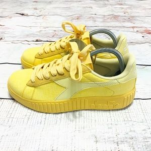 NEW Diadora Game Step Up Yellow Sneakers